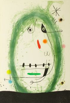 """Find the latest shows, biography, and artworks for sale by Joan Miró. Joan Miró rejected the constraints of traditional painting, creating works """"conceived w… Joan Miro Pinturas, Joan Miro Paintings, Spanish Painters, Spanish Artists, Art Abstrait, Wedding Art, Illustrations, Henri Matisse, Oeuvre D'art"""
