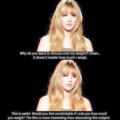 1 of the many reasons I love Jennifer Lawrence. Glad a celebrity finally has the mind to say something worth while