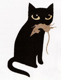 """Illustration by Jean François Martin from """"Contes de chats"""", Editions Albin Michel."""