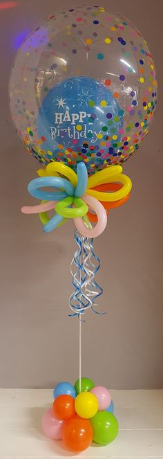 Happy Birthday Balloon in a Balloon