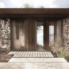 Residence in Lefkada I Tropical Architecture, Architecture Details, Interior Architecture, Tulum, Casa Cook, Retreat House, Independent House, Paint Colors For Living Room, Facade House