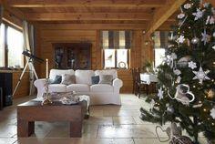 Polish home interior - Poland - living room - Boże Narodzenie w domu z bali
