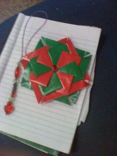 mandalinha  tea  bag  folding  tamabém  eu  que  fiz.