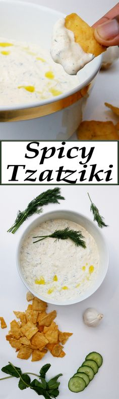 Learn how to make your own Spicy Tzatziki (Greek Yogurt Sauce) Snack Recipes, Cooking Recipes, Healthy Recipes, Sandwich Recipes, Cooking Ideas, Healthy Food, Greek Yogurt Sauce, Cucumber Recipes, Gastronomia
