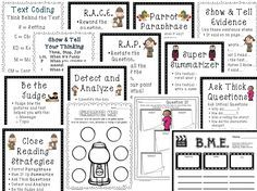 close reading planning template - close reading all about bats and text dependent questions