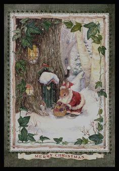 By Susan Wheeler Christmas Scenes, Noel Christmas, Vintage Christmas Cards, Christmas Pictures, Christmas Greetings, Christmas Crafts, Xmas, Christmas Artwork, Illustration Noel