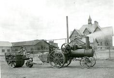 Steam Tractor, Montana. Circa 1911
