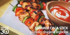 These Buffalo Chicken Kabobs are the perfect Whole30 grill meal
