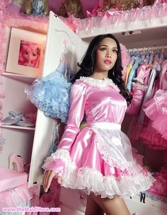 Sissy Maids, Sissy Boy, Maid Outfit, Maid Dress, Dress Girl, Pretty Dresses, Beautiful Dresses, French Maid Uniform, Asian Lingerie