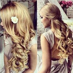 e17750e1595427548f8aa7a3c8245cdf 900x900 Down Wedding Hair Style wedding hair make up photo