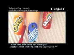 Sweets: *Cheetos* Nail Art Design
