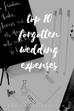 """While you are going through your wedding budget breakdown, don't forget to account for some """"extras"""" that are commonly forgotten. For example, in your invitation budget, did you account for postage? Not only postage for the invitation but what about postage for the respond card?"""