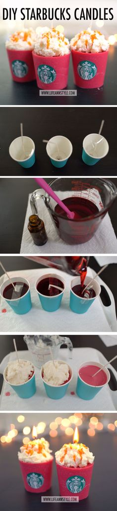 DIY STARBUCKS RED CUP CANDLES