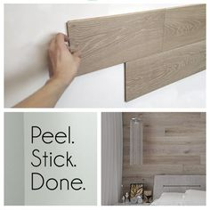Hardwood Bargains Peel-and-stick REAL wood paneling - Easy, affordable DIY to tr. Hardwood Bargains Peel-and-stick REAL wood paneling - Easy, affordable DIY to transform your home Source by Diy Casa, Home And Deco, Easy Home Decor, Affordable Home Decor, My New Room, Home Projects, Home Remodeling, Mobile Home Renovations, Camper Remodeling