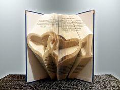 folded book art 1st wedding anniversary gift for him gift for her