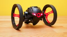 The Parrot MiniDrone Jumping Sumo is a fun, two-wheeled rover with a camera that streams a first-person view for piloting through your environment with a smartphone or tablet. The camera can also capture low-res photos and video.