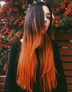 Love the orange dip dye x
