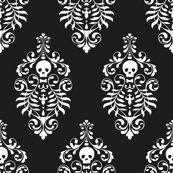 Skull_damask_-_white-black