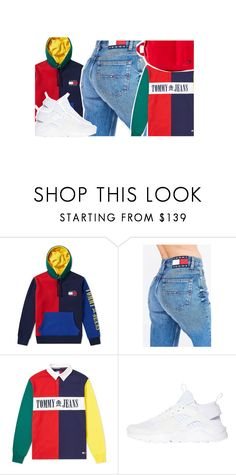 """Tommy Hilfiger❤️‼️"" by fam0us-e ❤ liked on Polyvore featuring Tommy Hilfiger and NIKE"