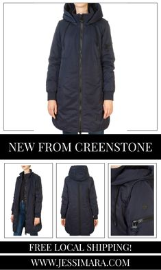 This is the 'Helen' Midnight Blue Coat by stunning brand Creenstone. This gorgeous piece features a detachable hood, a central double zipper fastening, and side zip pockets. This is the perfect piece to carry you into the colder season! Blue Coats, Midnight Blue, Shop Now, Winter Jackets, Pockets, Zipper, Clothing, Shopping, Fashion