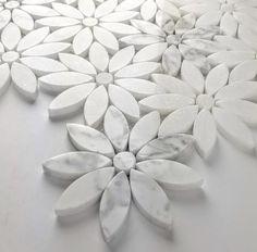 Tuscany Marble Waterjet Mosaic Carrara White Marble – TileBuys