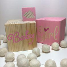 Baby girl wooden blocks