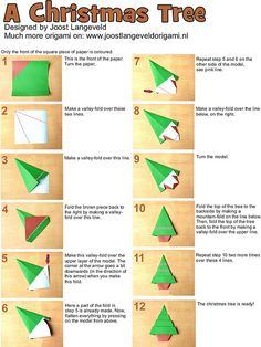 photo tutorial for how to make an Origami Christmas Tree ...