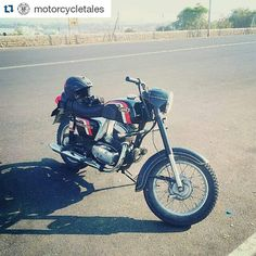 """@abhi74427 and his story  Repost @motorcycletales  Abhinav loves his classic motorcycles and here is his #meandmymotorcycle story """"My bikes are my treasure one of my bike is in my family since 1977... My grandfather used to have Norton BSA Enfield etc. As the days passed he sold everything in his possession. Later on when I realised after looking at his pictures with all his fleet that day I made a promise to myself that I will become like my grand father and started collecting motorcycles…"""