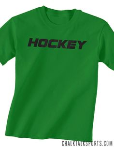 Hockey Tees can be personalized. A great hockey gift idea! All hockey t-shirts can be personalized at chalktalksports.com