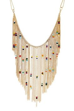Steve Madden Bead & Fringe Chain Necklace by Assorted on @HauteLook