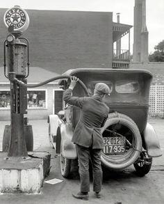 Texaco gas station c. 1920's.