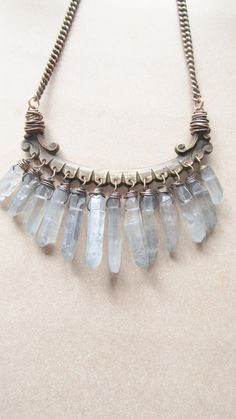 stone setting idea for necklace