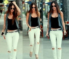 I have always loved Megan Fox style it's sexy, rockish and out on the town comfy! Megan Fox Style, Love Her Style, Style Me, Fashion Moda, Look Fashion, Fashion Beauty, Estilo Megan Fox, Megan Fox Outfits, Summer Outfits