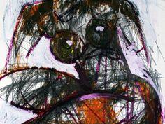 Schwarzer Akt, Mixed Media, 60 x 42 cm, Oxana Mahnac