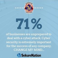 Follow us on Twitter or Instagram for more! instagram.com/Cyber_DMZ-by_Sekurenation and twitter.com/Cyber_DMZ What Is Cyber Security, Cyber Attack, Follow Us On Twitter, Change Me, Mindfulness, Success, Business, Instagram, Store