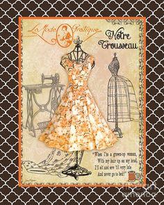 French Dress Shop-c2 Digital Art