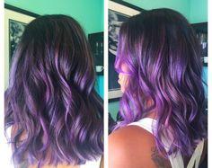#purplehair #dyedhair #olaplex #balayage #ombre #hightlights