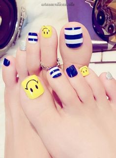 Las Mejores Imágenes de Uñas Acrílicas para Pies del 2019 Pretty Toe Nails, Cute Toe Nails, Pretty Nail Art, My Nails, Easy Toe Nails, Pedicure Nail Art, Toe Nail Art, Feet Nail Design, Nails Design