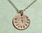 Vegetarian Hand Stamped Copper and Sterling Silver Necklace featured on this Etsy treasury: https://www.etsy.com/treasury/NjcyNzgyNjB8MjcyNTExMDAyMQ/is-there-life-for-a-vegetarian-on-etsy