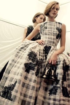 Frida Gustavsson at Christian Dior haute couture s/s 2012 backstage, photographed by Sophie Carre