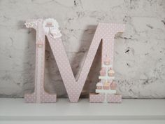 Sweet cakes wood letter