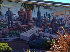 One of the numerous Bigfoot murals in Willow Creek. (Side of Ace Hardware)