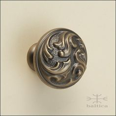 DM Cabinet Knob | Antique Bronze | Custom Cabinet Hardware   Handcrafted By  Master Artisans With