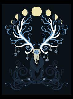 Moon Elk by ORUPSIA on DeviantArt