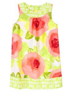 Watercolor Floral Dress at Gymboree