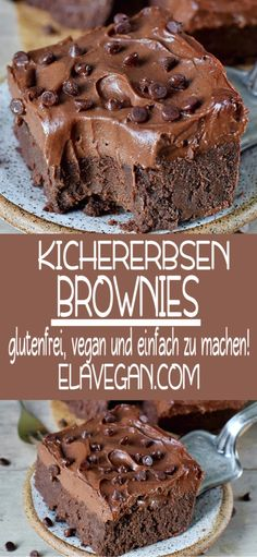 These healthy chickpea brownies with a sweet potato cream are incredible . - These healthy chickpea brownies with a sweet potato cream are incredibly delicious. They are vegan, - Brownie Sans Gluten, Vegan Brownie, Brownie Recipes, Healthy Brownies, Cookie Recipes, Healthy Dessert Recipes, Gluten Free Desserts, Dairy Free Recipes, Whole Food Recipes
