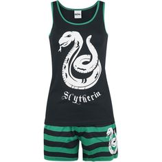 Slytherin Stripes (£40) ❤ liked on Polyvore featuring pajamas