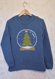 3660c1fd0b3f70 Intarsia - Snow Globe Chart   Adults Sweater Knitting pattern by Instarsia.  LoveKnitting. Christmas Knitting Patterns ...