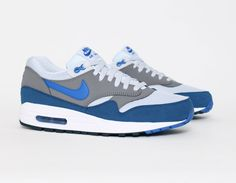 #Nike #AirMax 1 Blue Grey #Sneakers