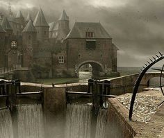 Seaside Castle,  Germany (I love the old pirate movies, this would have been a pirates dream landing.. lol!)